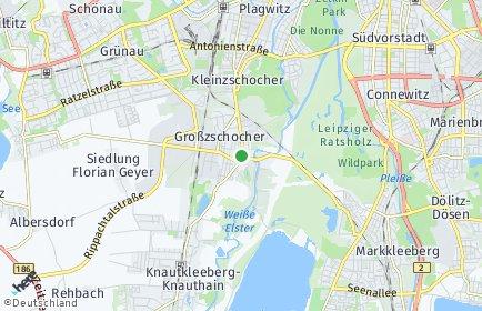 Stadtplan Leipzig OT Großzschocher
