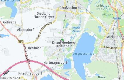 Stadtplan Leipzig OT Knautkleeberg-Knauthain
