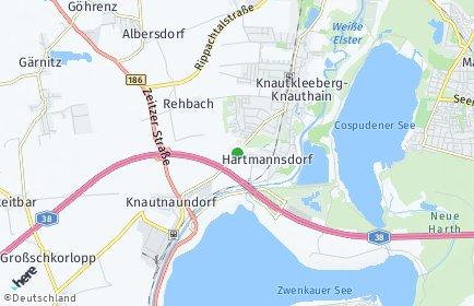 Stadtplan Leipzig OT Hartmannsdorf-Knautnaundorf