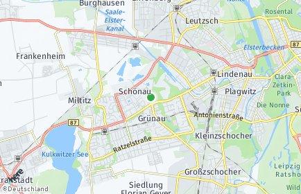 Stadtplan Leipzig OT Schönau