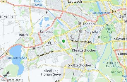 Stadtplan Leipzig OT Grünau-Ost