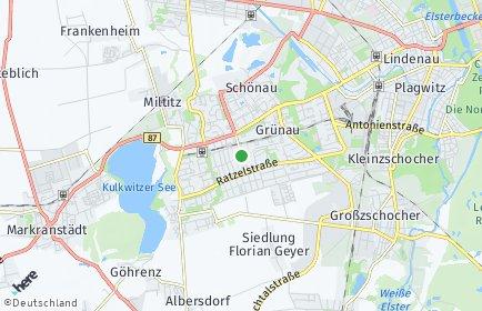 Stadtplan Leipzig OT Grünau-Mitte