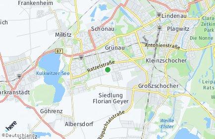 Stadtplan Leipzig OT Grünau-Siedlung