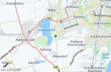 Stadtplan Leipzig OT Lausen-Grünau