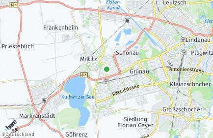 Stadtplan Leipzig OT Grünau-Nord