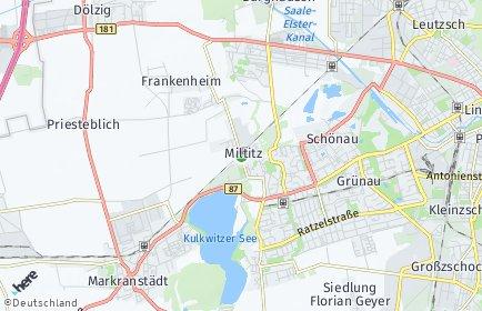 Stadtplan Leipzig OT Miltitz