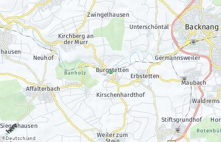 Stadtplan Burgstetten
