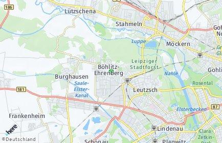 Stadtplan Leipzig OT Böhlitz-Ehrenberg