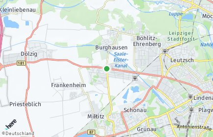 Stadtplan Leipzig OT Burghausen-Rückmarsdorf