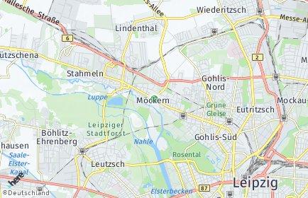 Stadtplan Leipzig OT Möckern