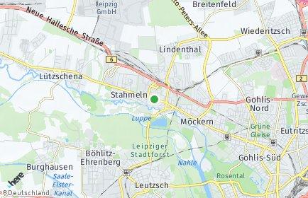 Stadtplan Leipzig OT Wahren
