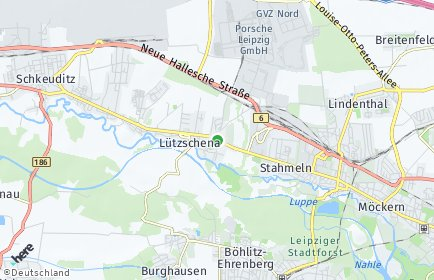 Stadtplan Leipzig OT Lützschena-Stahmeln