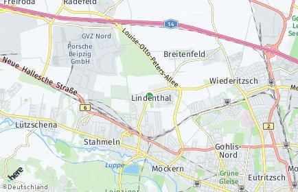 Stadtplan Leipzig OT Lindenthal