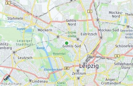 Stadtplan Leipzig OT Gohlis-Süd