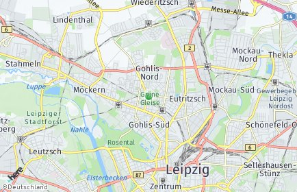 Stadtplan Leipzig OT Gohlis-Mitte