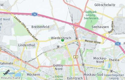 Stadtplan Leipzig OT Wiederitzsch