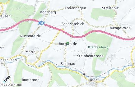 Stadtplan Burgwalde