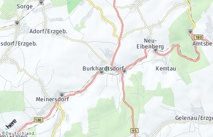 Stadtplan Burkhardtsdorf