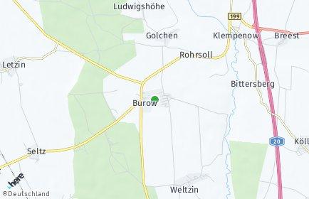 Stadtplan Burow