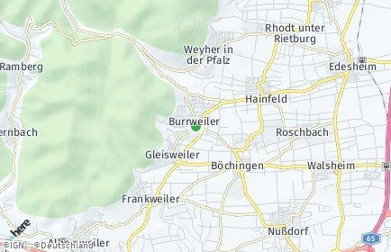 Stadtplan Burrweiler