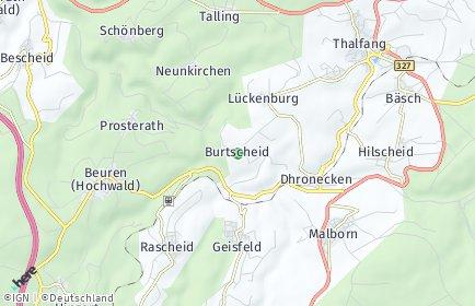 Stadtplan Burtscheid