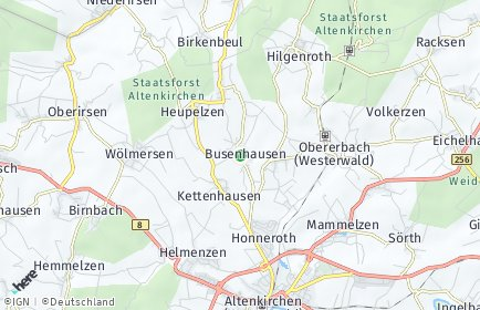 Stadtplan Busenhausen OT Beul