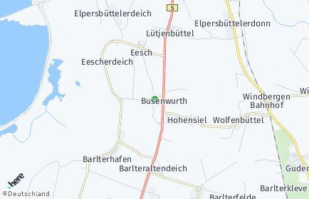 Stadtplan Busenwurth