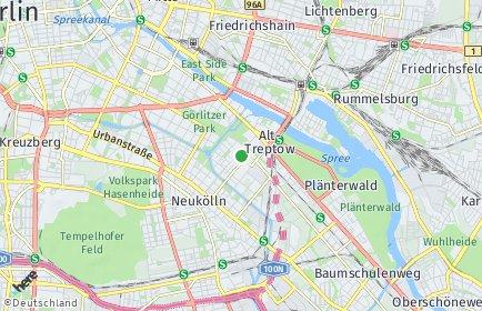 Stadtplan Berlin-Alt-Treptow