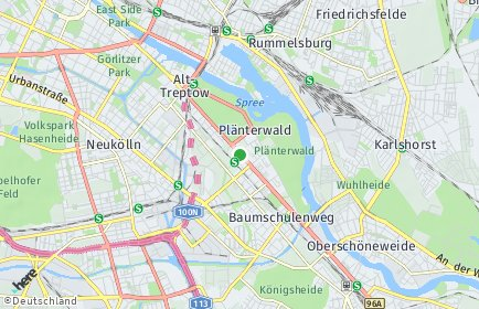 Stadtplan Berlin-Plänterwald