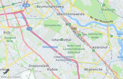 Stadtplan Berlin-Johannisthal
