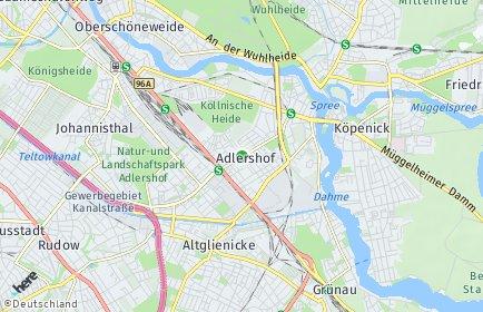 Stadtplan Berlin-Adlershof