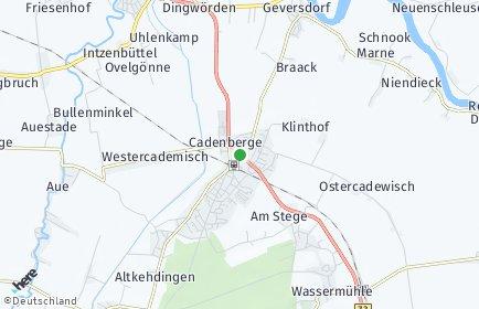 Stadtplan Cadenberge