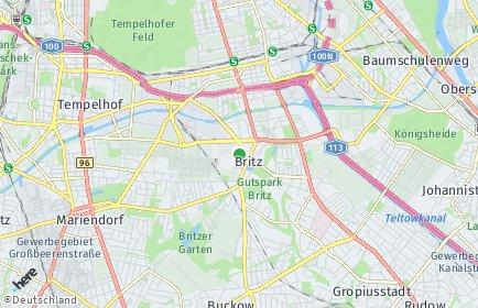 Stadtplan Berlin-Britz