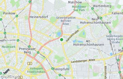 Stadtplan Berlin-Weißensee