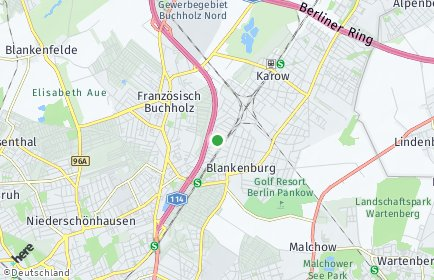 Stadtplan Berlin-Blankenburg