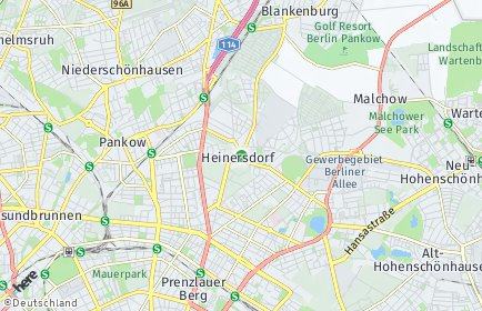 Stadtplan Berlin-Heinersdorf