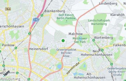 Stadtplan Berlin-Stadtrandsiedlung Malchow