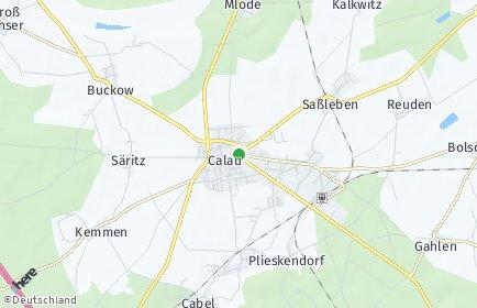 Stadtplan Calau