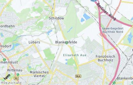 Stadtplan Berlin-Blankenfelde