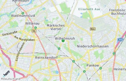Stadtplan Berlin-Wilhelmsruh