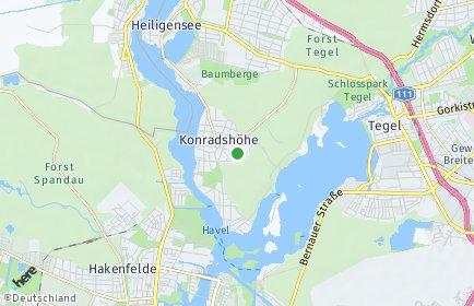 Stadtplan Berlin-Konradshöhe