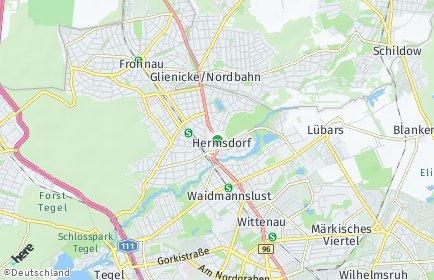 Stadtplan Berlin-Hermsdorf