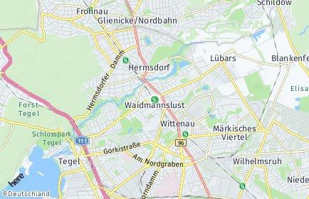 Stadtplan Berlin-Waidmannslust