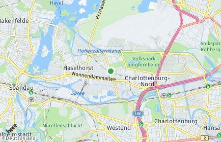 Stadtplan Berlin-Siemensstadt