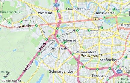 Stadtplan Berlin-Halensee