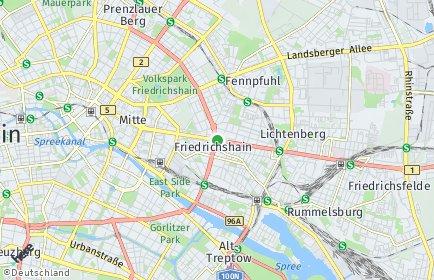 Stadtplan Berlin-Friedrichshain