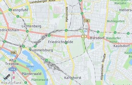 Stadtplan Berlin-Friedrichsfelde