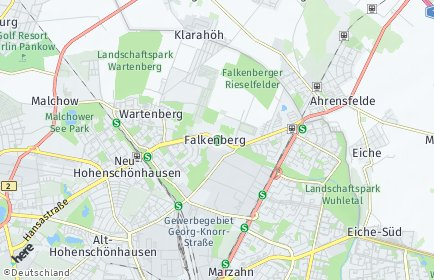 Stadtplan Berlin-Falkenberg