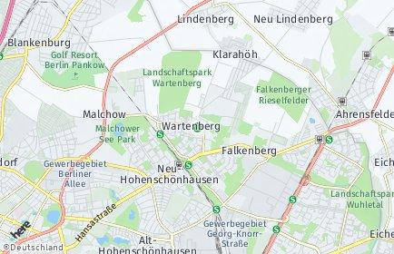 Stadtplan Berlin-Wartenberg