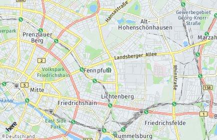 Stadtplan Berlin-Fennpfuhl